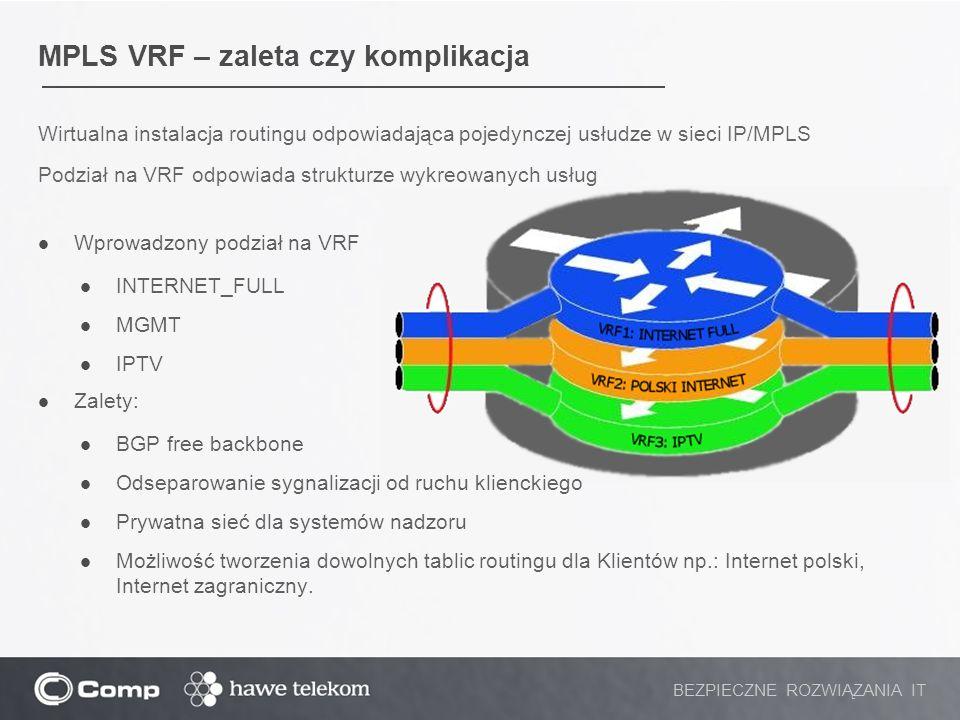 MPLS VRF – zaleta czy komplikacja