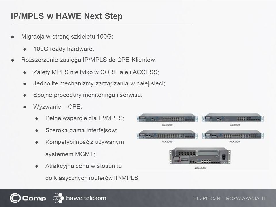 IP/MPLS w HAWE Next Step