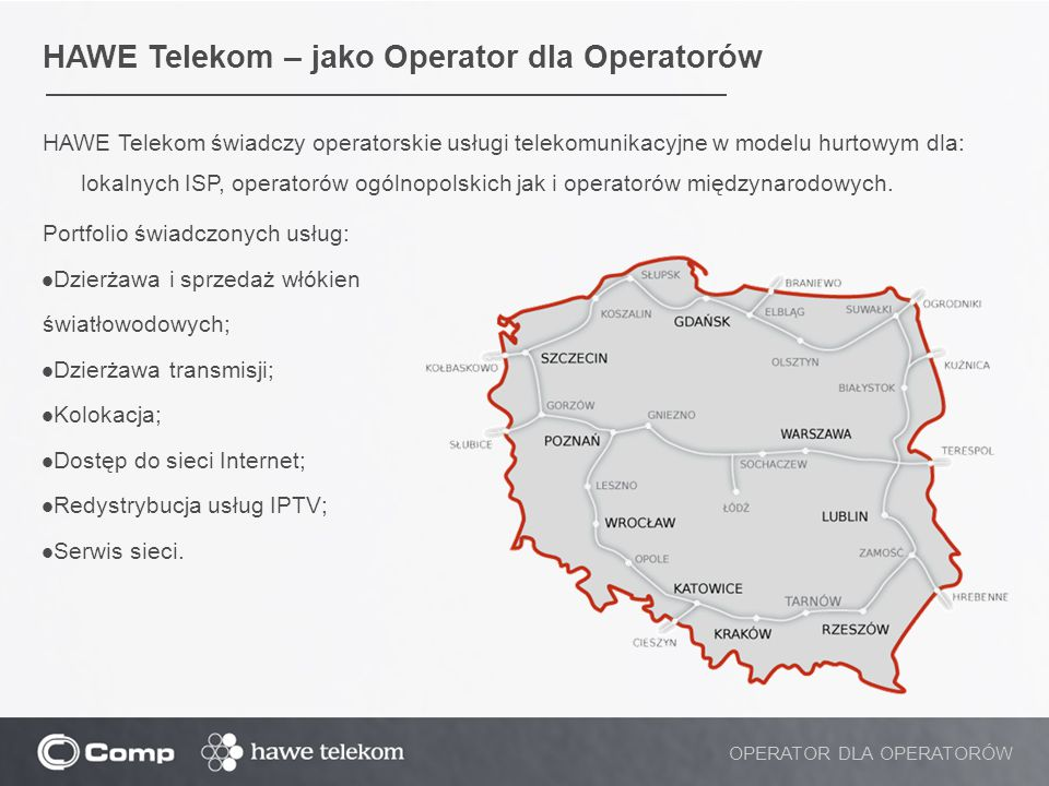 HAWE Telekom – jako Operator dla Operatorów