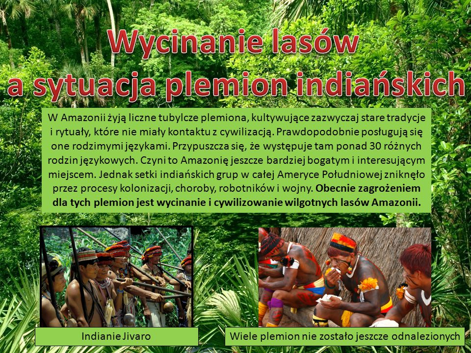 a sytuacja plemion indiańskich