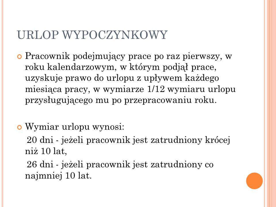 URLOP WYPOCZYNKOWY
