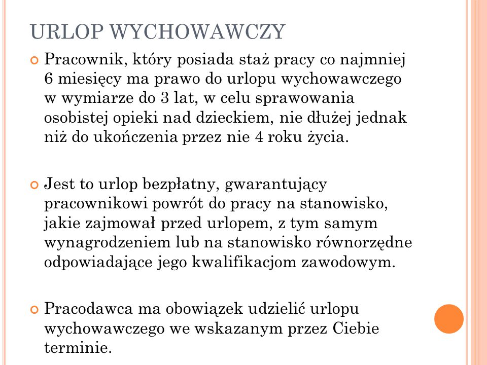 URLOP WYCHOWAWCZY
