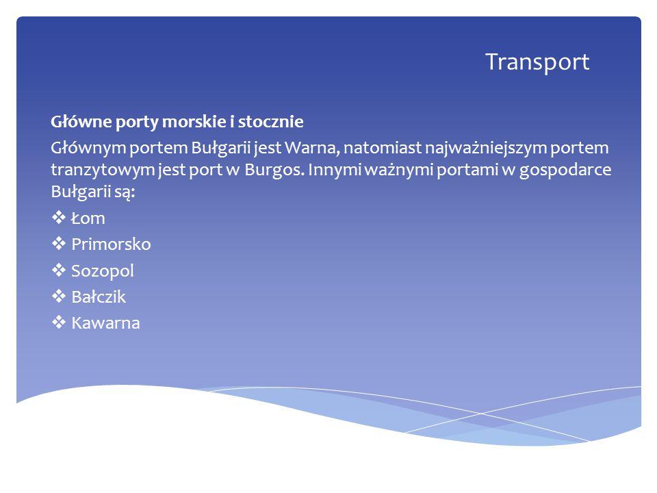 Transport Główne porty morskie i stocznie