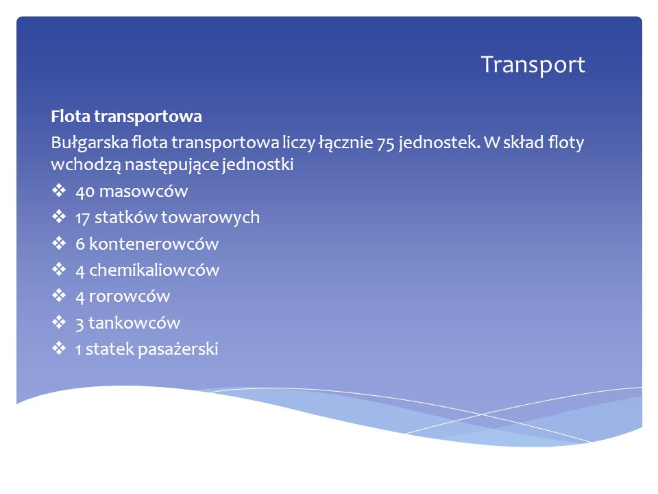 Transport Flota transportowa