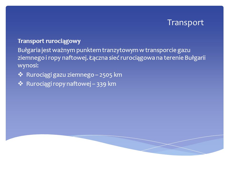 Transport Transport rurociągowy