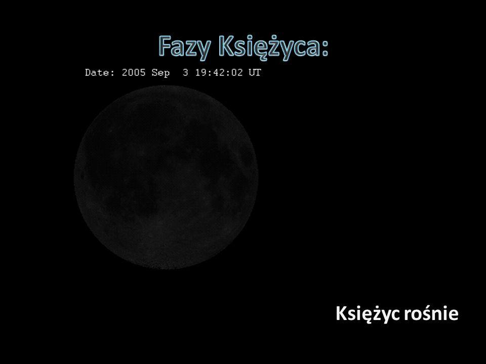 Fazy Księżyca: Księżyc rośnie