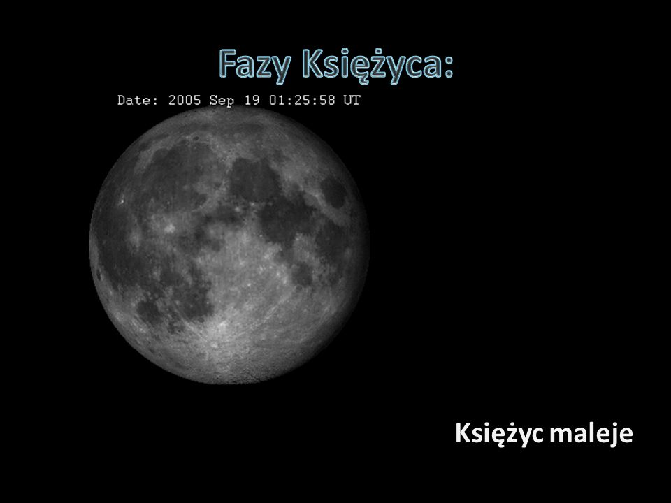 Fazy Księżyca: Księżyc maleje