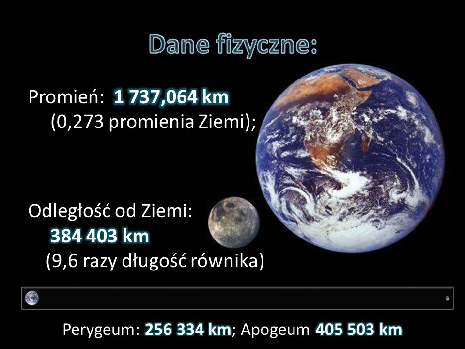 Perygeum: 256 334 km; Apogeum 405 503 km