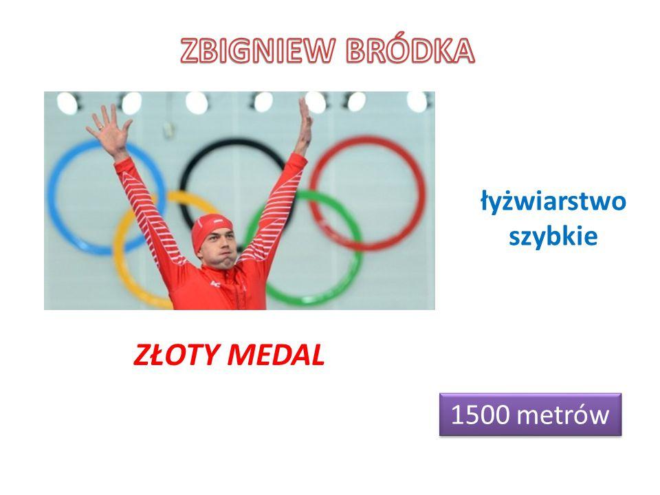 ZBIGNIEW BRÓDKA łyżwiarstwo szybkie ZŁOTY MEDAL 1500 metrów