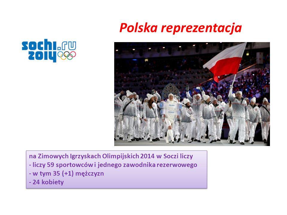 Polska reprezentacja na Zimowych Igrzyskach Olimpijskich 2014 w Soczi liczy. liczy 59 sportowców i jednego zawodnika rezerwowego.