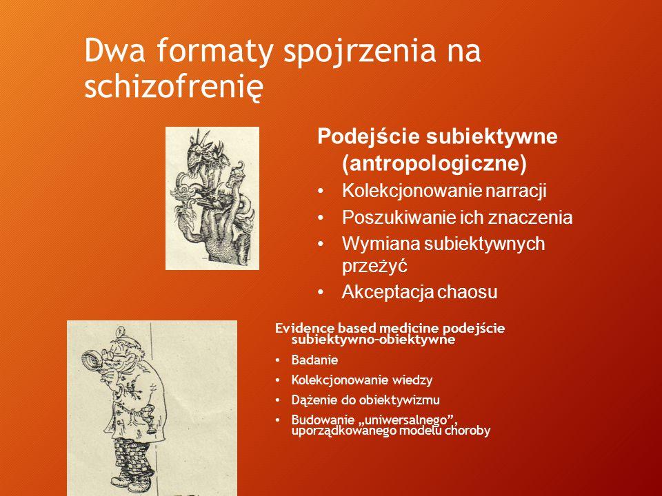 Dwa formaty spojrzenia na schizofrenię