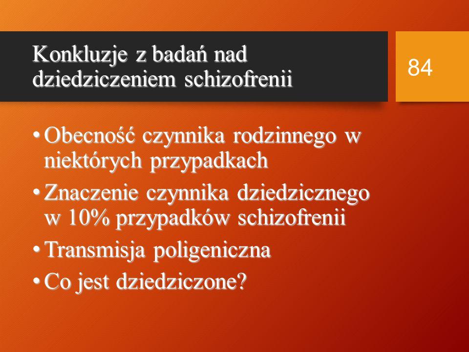 Konkluzje z badań nad dziedziczeniem schizofrenii