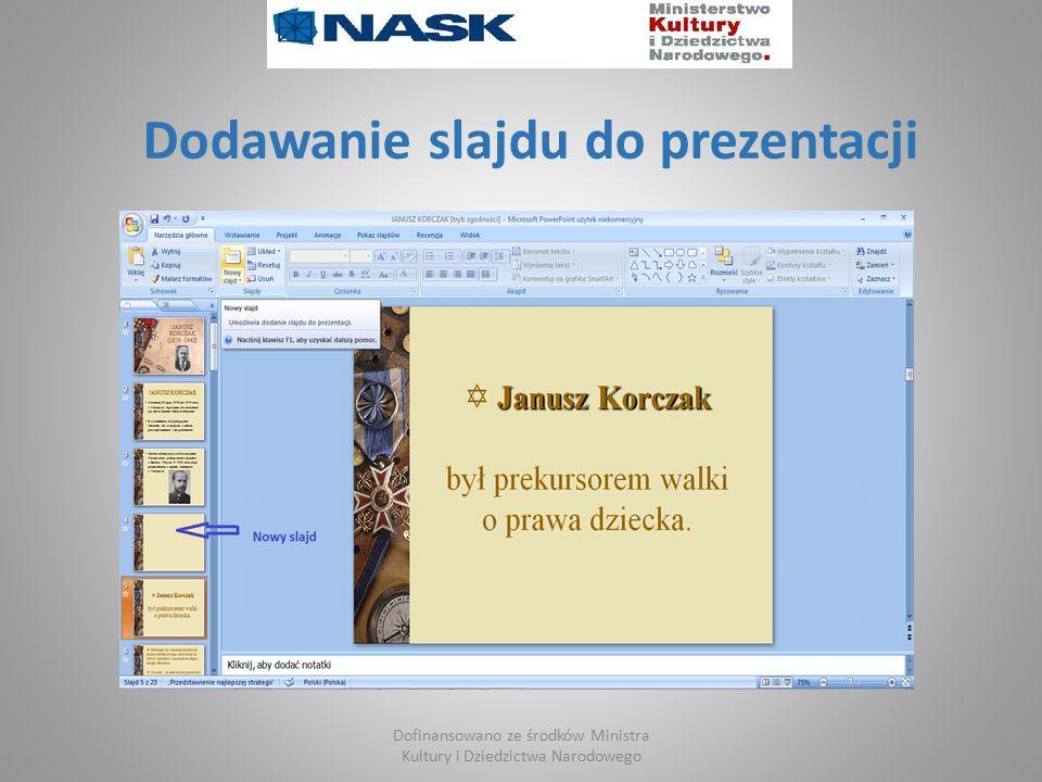 Dodawanie slajdu do prezentacji