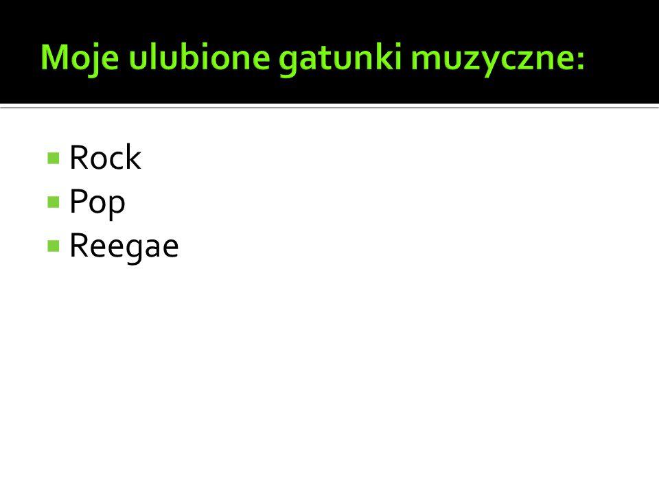 Moje ulubione gatunki muzyczne:
