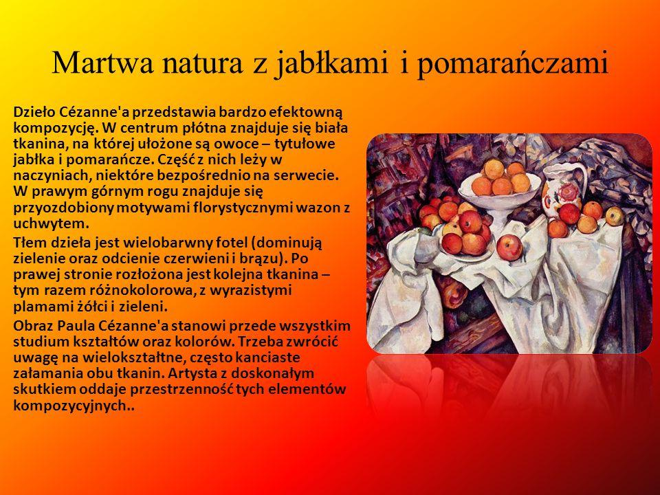 Martwa natura z jabłkami i pomarańczami