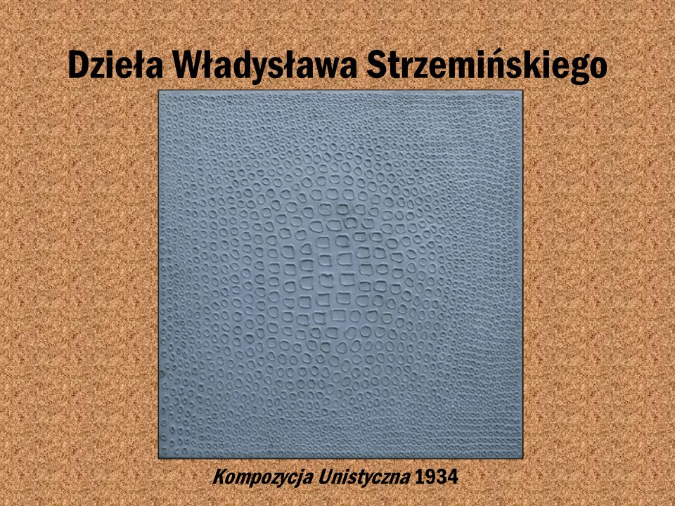 Dzieła Władysława Strzemińskiego