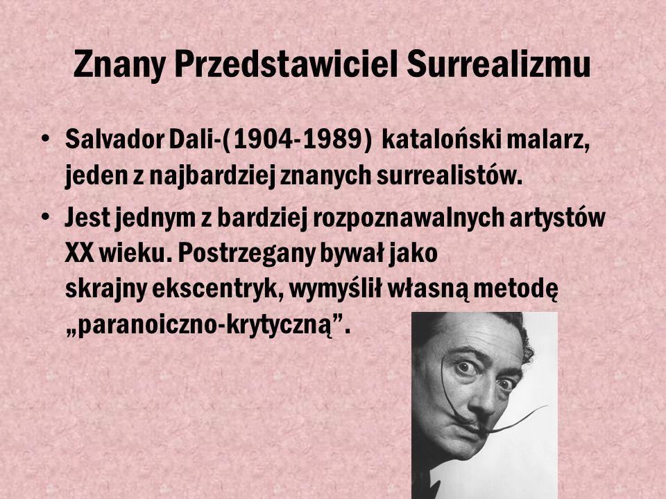 Znany Przedstawiciel Surrealizmu