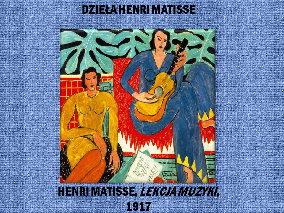 HENRI MATISSE, LEKCJA MUZYKI, 1917