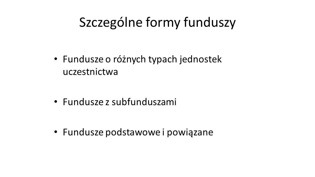 Szczególne formy funduszy