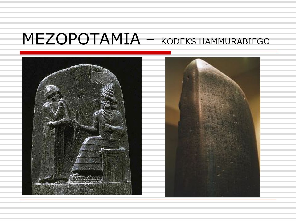 MEZOPOTAMIA – KODEKS HAMMURABIEGO