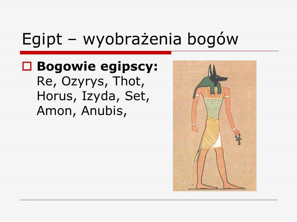 Egipt – wyobrażenia bogów