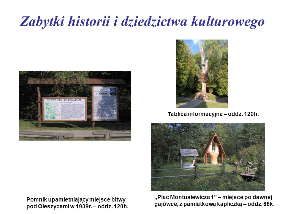 Zabytki historii i dziedzictwa kulturowego