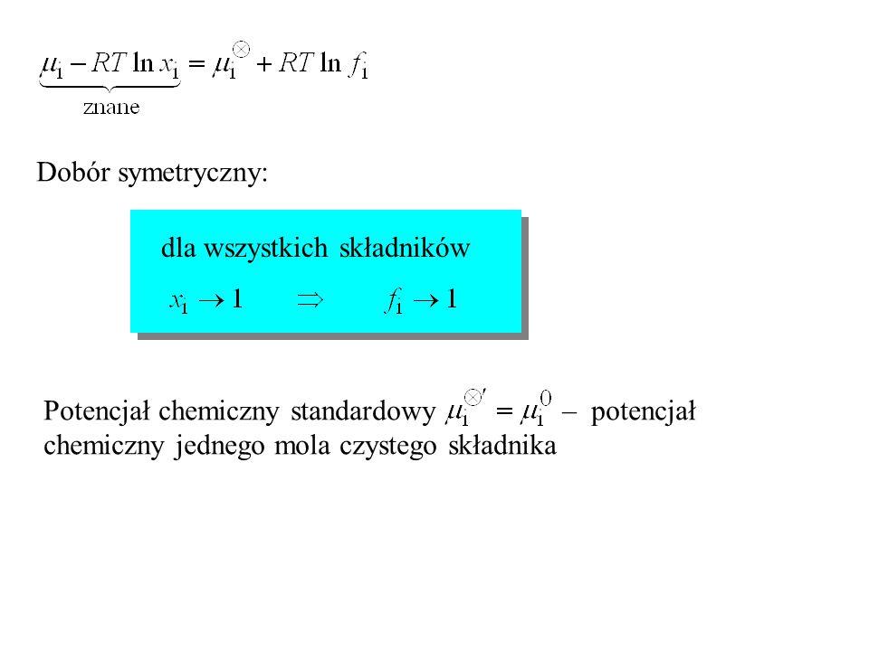 Dobór symetryczny: dla wszystkich składników.