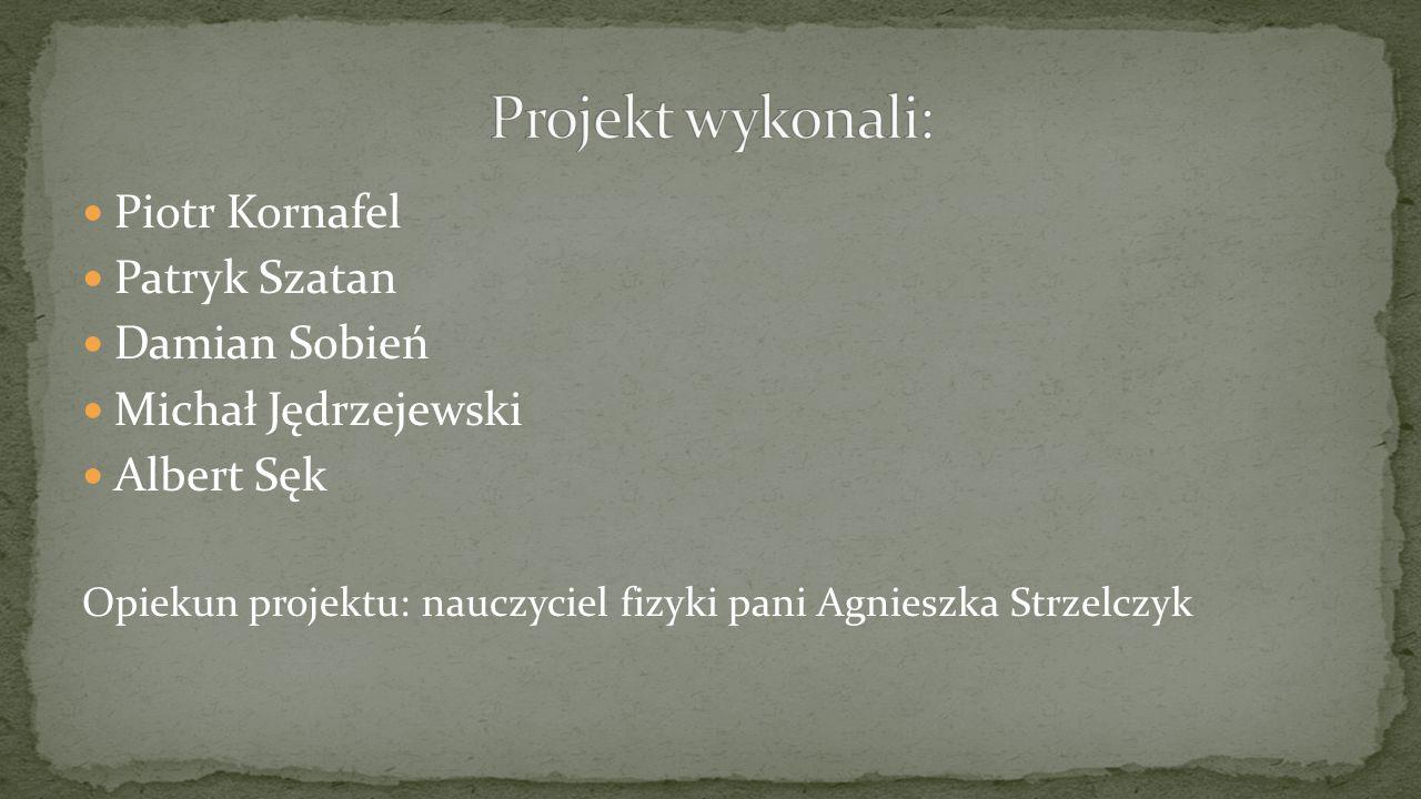 Projekt wykonali: Piotr Kornafel Patryk Szatan Damian Sobień