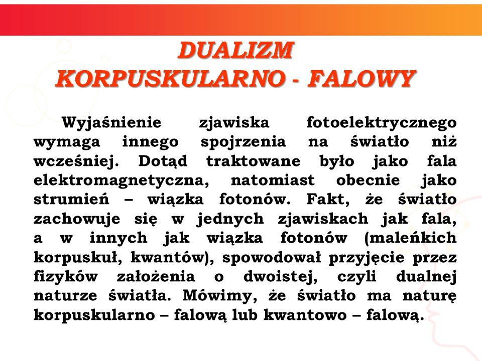 KORPUSKULARNO - FALOWY