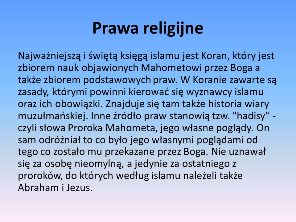 Prawa religijne