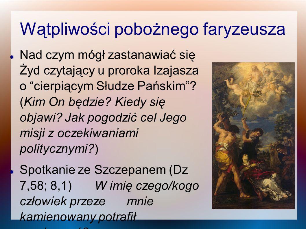 Wątpliwości pobożnego faryzeusza