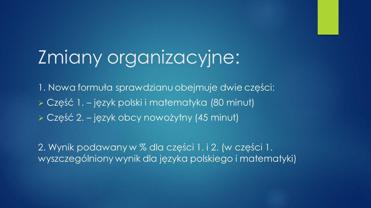 Zmiany organizacyjne: