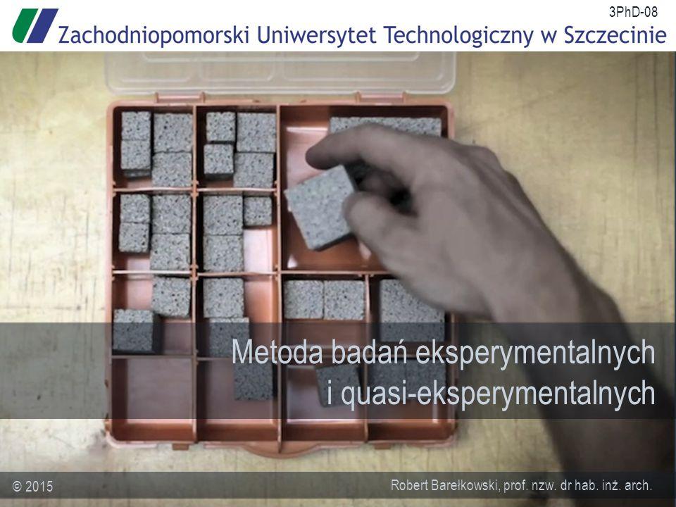 Metoda badań eksperymentalnych i quasi-eksperymentalnych