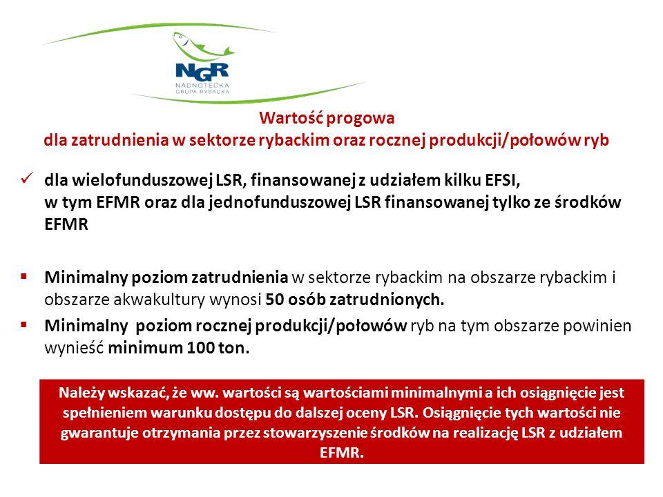 Wartość progowa dla zatrudnienia w sektorze rybackim oraz rocznej produkcji/połowów ryb