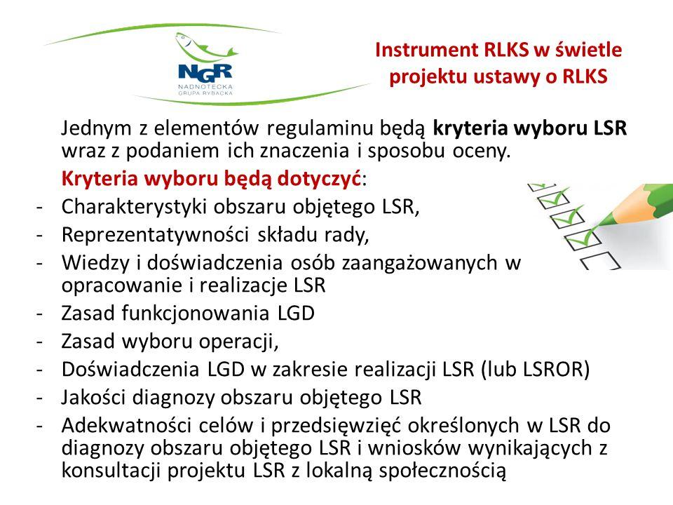 Instrument RLKS w świetle projektu ustawy o RLKS