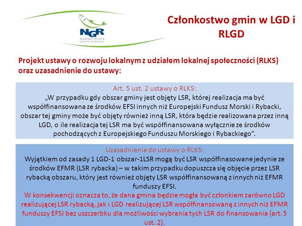 Członkostwo gmin w LGD i RLGD
