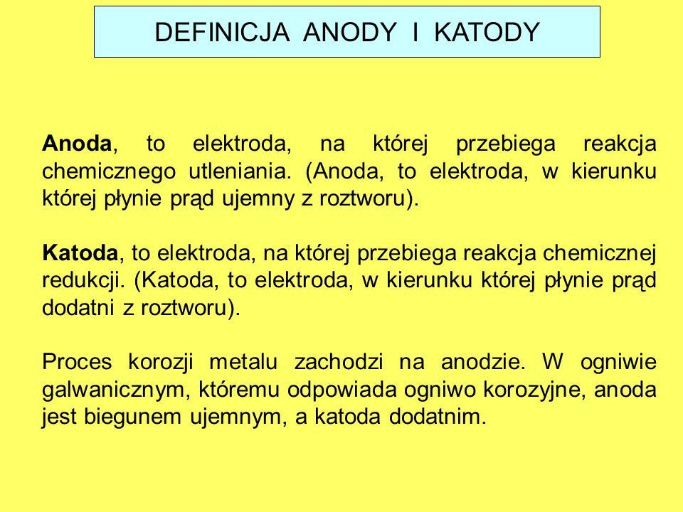 DEFINICJA ANODY I KATODY