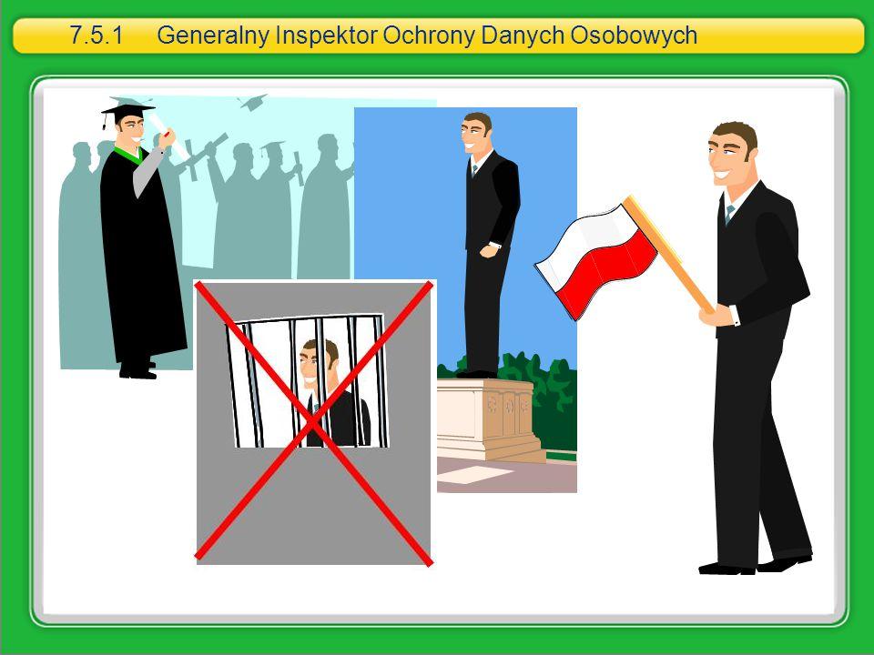 7.5.1 Generalny Inspektor Ochrony Danych Osobowych
