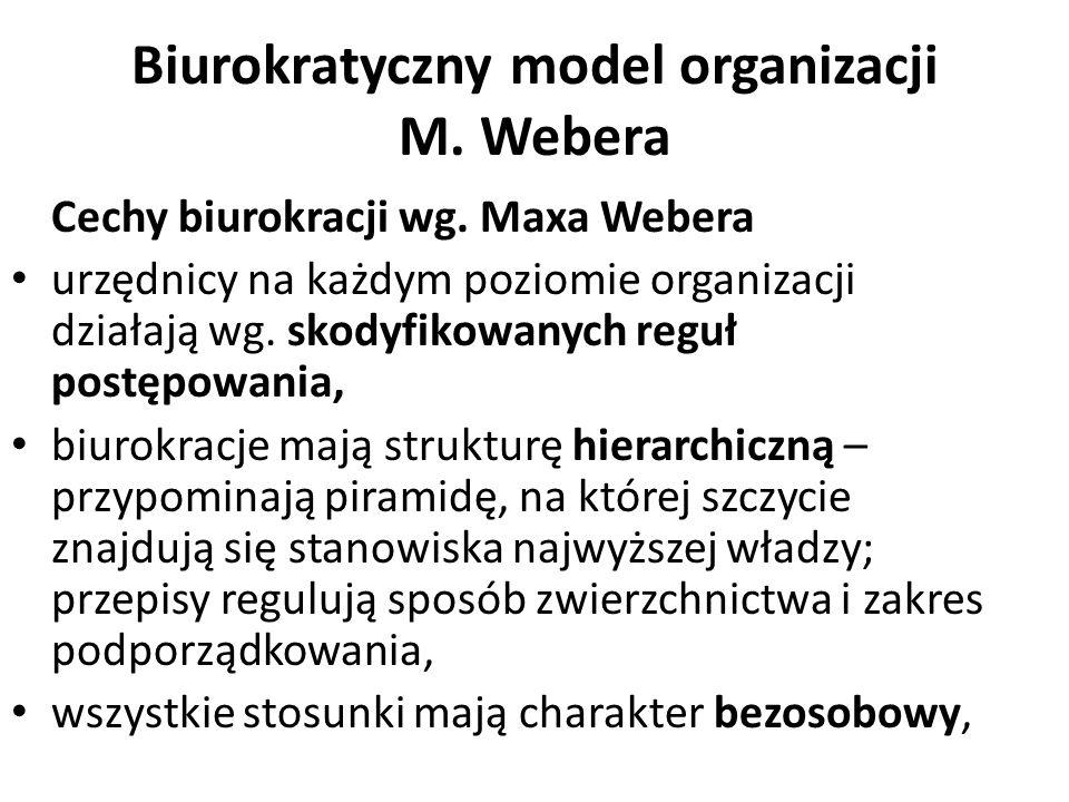 Biurokratyczny model organizacji M. Webera