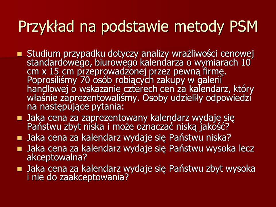 Przykład na podstawie metody PSM