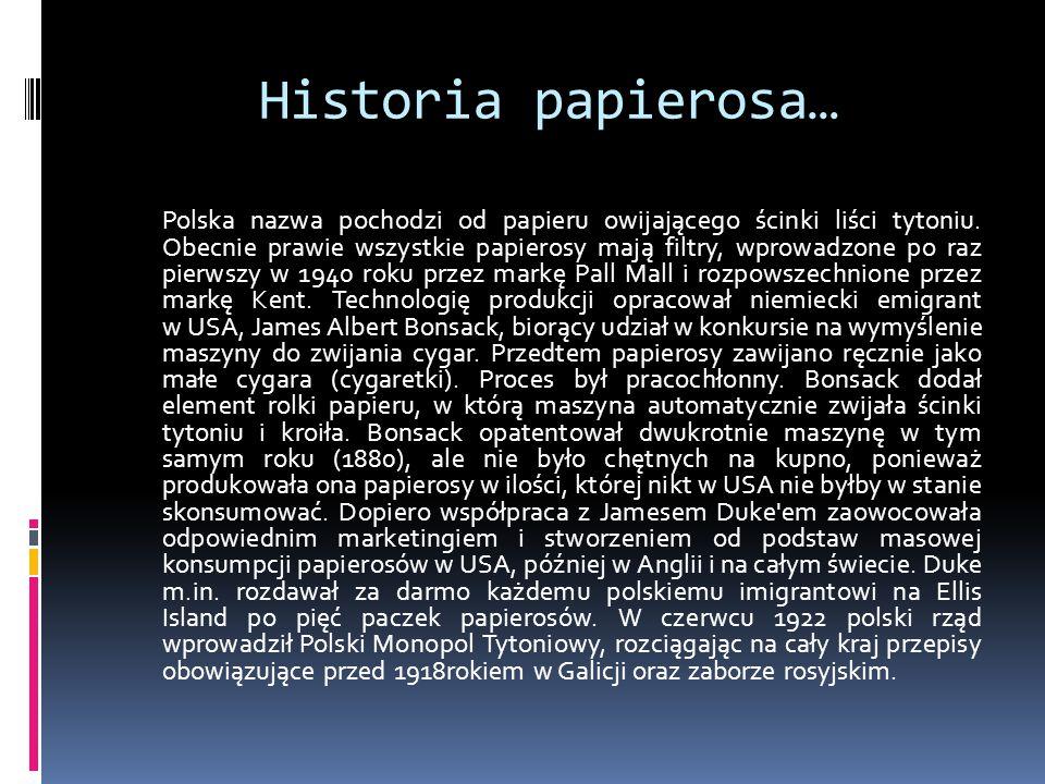 Historia papierosa…