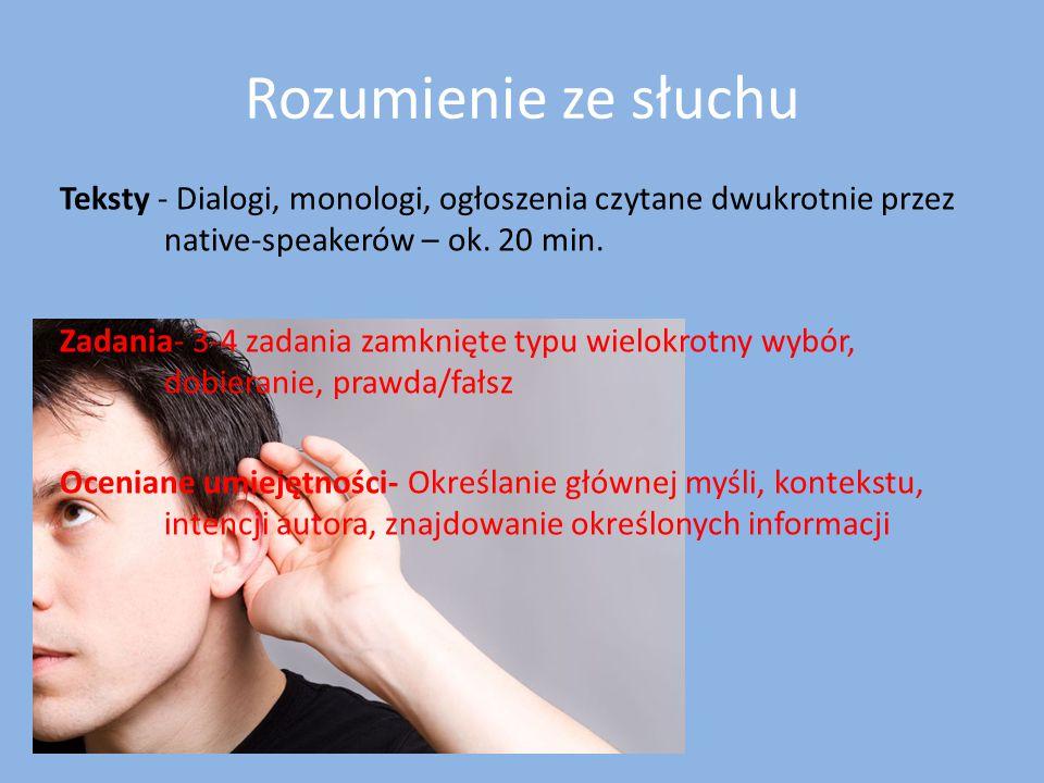 Rozumienie ze słuchu