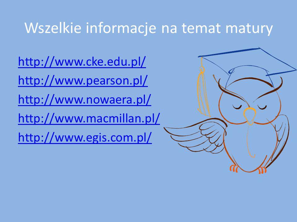 Wszelkie informacje na temat matury