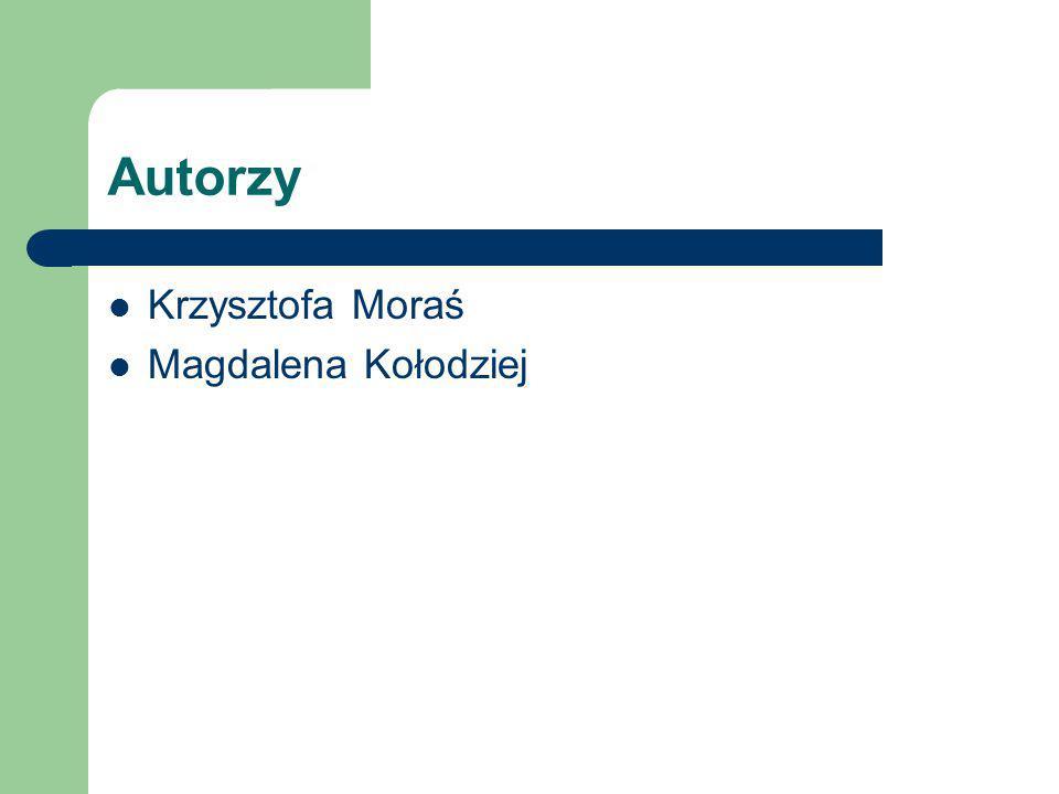 Autorzy Krzysztofa Moraś Magdalena Kołodziej