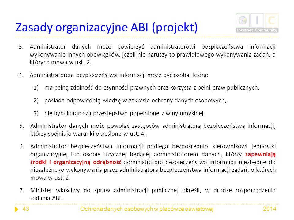 Zasady organizacyjne ABI (projekt)