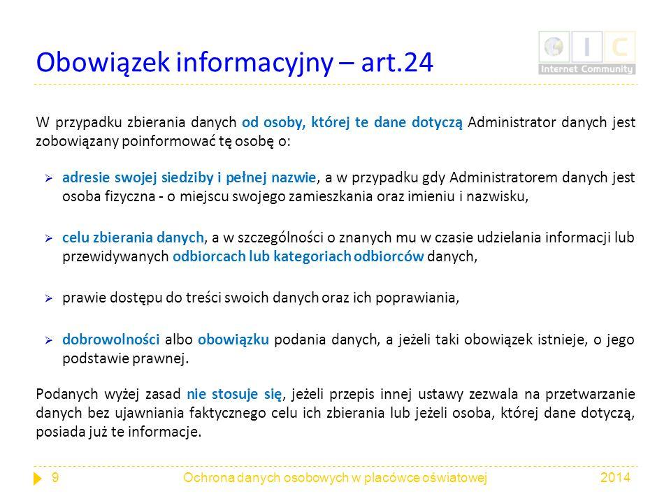 Obowiązek informacyjny – art.24