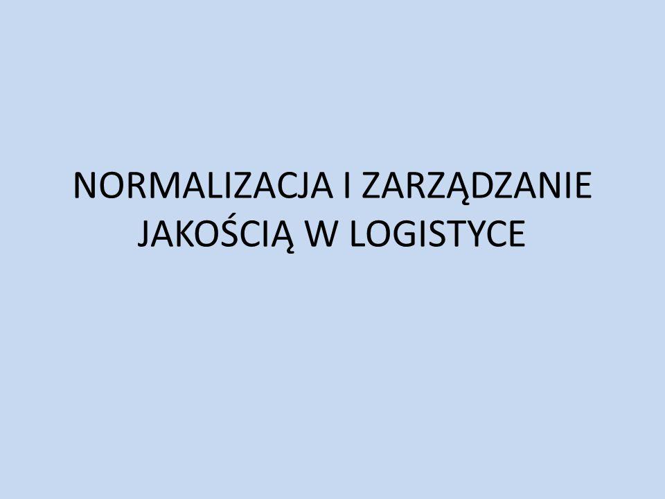 normalizacja i Zarządzanie jakością w logistyce