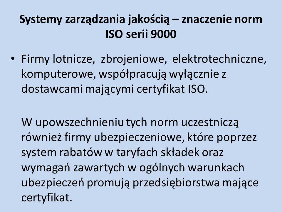 Systemy zarządzania jakością – znaczenie norm ISO serii 9000
