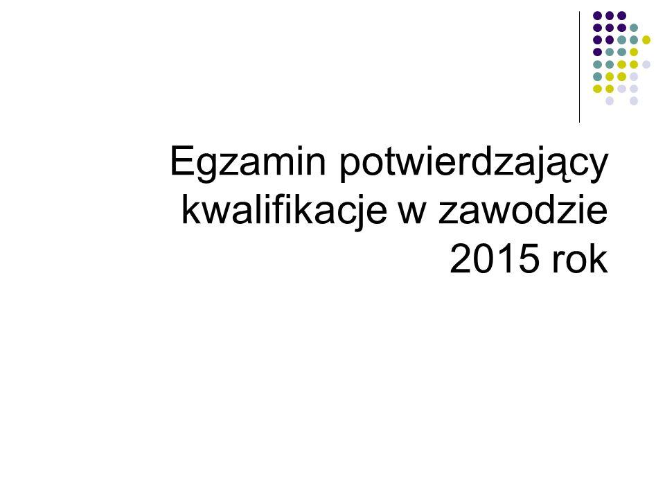 Egzamin potwierdzający kwalifikacje w zawodzie 2015 rok