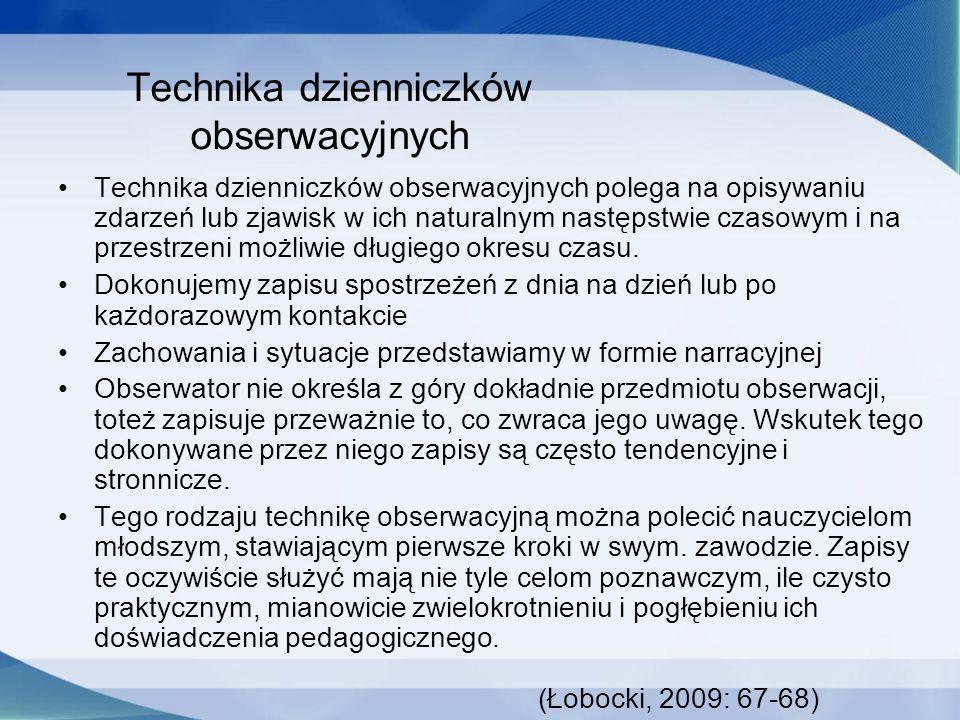 Technika dzienniczków obserwacyjnych